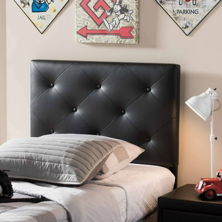 Twin Size Headboard (Baxton Studio Baltimore Modern and Contemporary Faux Leather Upholstered Twin Size Headboard, Multiple Colors)