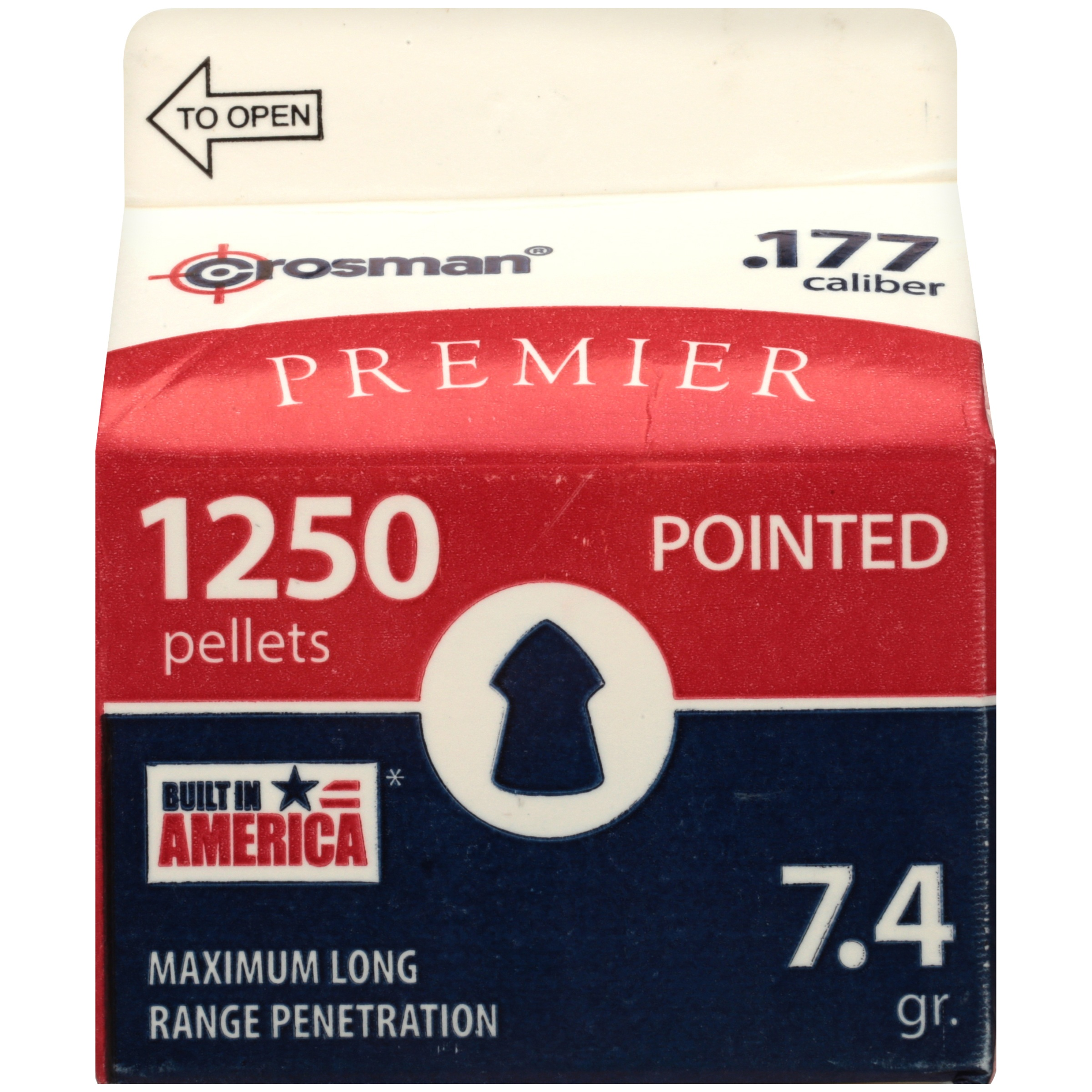 Crosman Pointed Pellets 1250 ct P1250