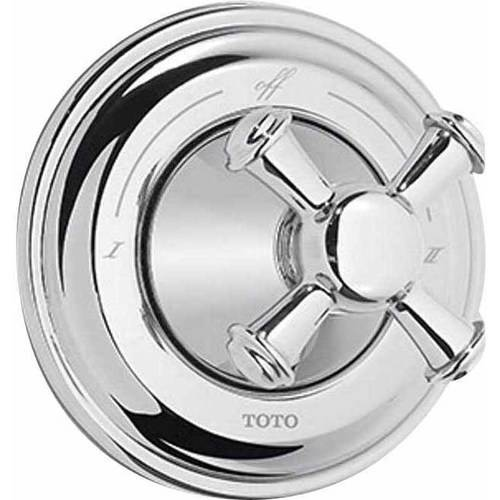 Toto Vivian Two-Way Diverter Trim with Shut-Off and Cross Handle, Available in Various Colors