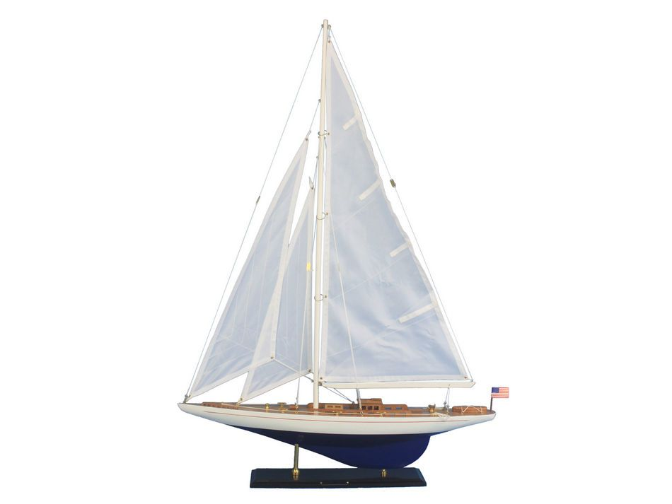 "Enterprise 35"" Americas Cup Model Sailboat Wooden Model Sailboat Not a Kit by Handcrafted Nautical Decor"