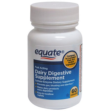Equate Fast Acting Dairy Digestive Supplement Caplets, 60 Ct