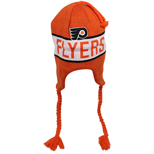 Old Time Hockey Philadelphia Flyers Venture Uncuffed Ski-Knit Beanie - Orange - OSFA