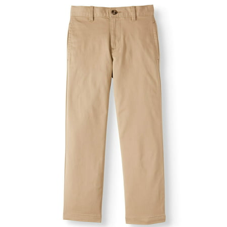 Wonder Nation Twill Chino Pants (Little Boys, Big Boys, & Husky)