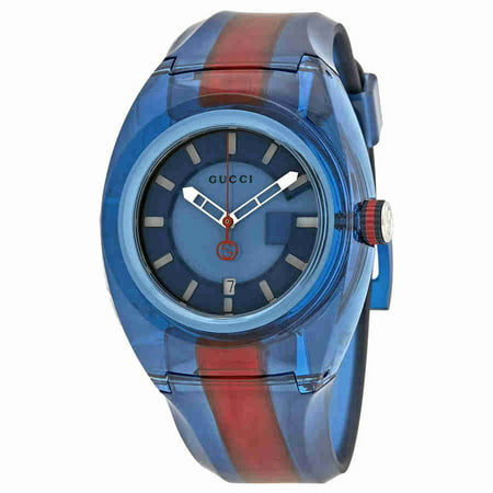 Gucci Sync XL Blue Dial Mens Two Tone Watch YA137112
