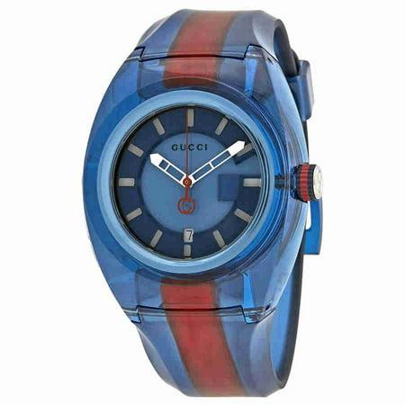 Sync XL Blue Dial Mens Two Tone Watch YA137112 Bulova Mens Blue Dial
