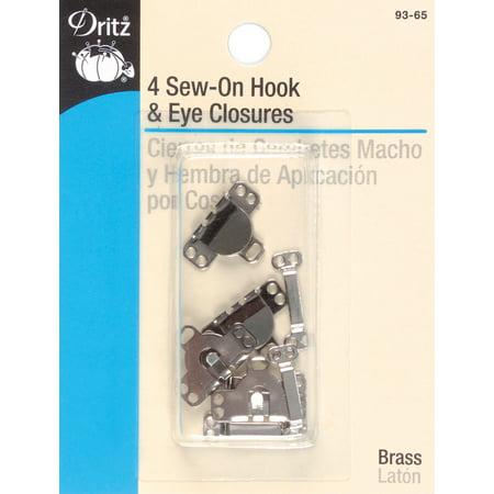 - Dritz Sew-On Skirt Hook & Eye Closures 4/Pkg-Nickel