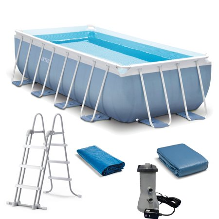 16 Foot X 8 Foot X 42 Inch Prism Frame Above Ground Swimming Pool 28317eh