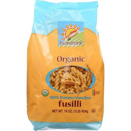 Bionaturae Organic Pasta - Bionaturae Pasta - Organic - 100 Percent Durum Semolina - Fusilli - 16 Oz - pack of 12