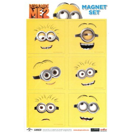 DESPICABLE ME 2 LINE Art Minions, Officially Licensed, & Exclusively Trademarked Original Artworks & Magnet Collection