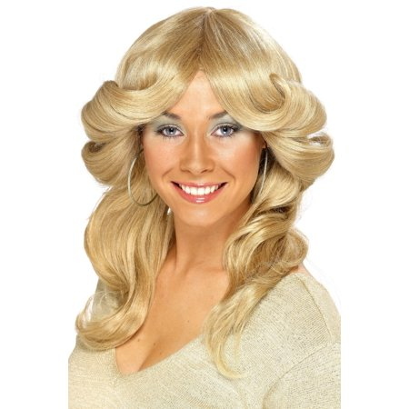 1970s Style Farrah-flip Blonde Flick Wig Women's Costume Accessory](1970s Accessories)