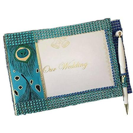 Wedding Peacock Design Signature Guest Book Keepsake Gift (Wedding Guest Gift)