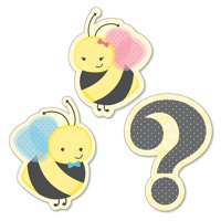 What Will It BEE? - DIY Shaped Gender Reveal Cut-Outs - 24 Count