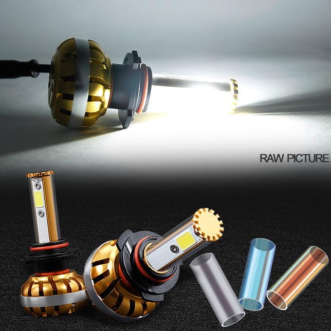*COBRA* Gold 12V 60W 3200LM 880 White LED Headlight Fog Light Conversion Kit