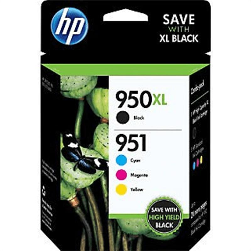 HP 950XL Black/951 Tri-Color (C2P01FN140) Inkjet Cartridg...