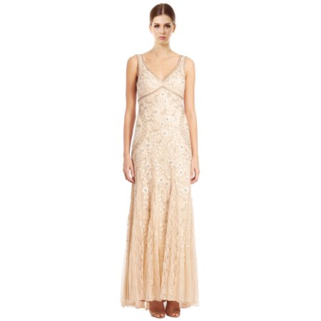 7720f2f03ebc2 Sue Wong - Sue Wong Beaded & Floral Embroidered Tulle Evening Gown Dress -  Walmart.com