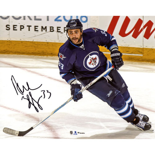 "Dustin Byfuglien Winnipeg Jets Autographed 8"" x 10"" Blue Jersey Skating Photograph No Size by Fanatics Authentic"