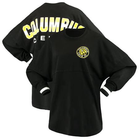 96a16cdef11 Columbus Crew SC Fanatics Branded Women's Cuffed Spirit Jersey Long Sleeve  T-Shirt- Black - Walmart.com