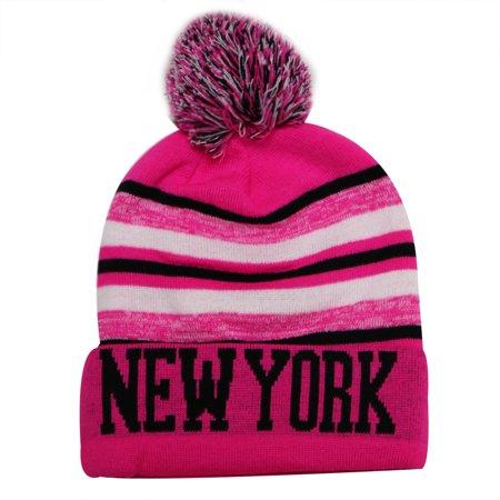 City Hunter - New York City Hunter USA Blending Colors Men s Winter Hats  (Pink Black) - Walmart.com 67576900e8a
