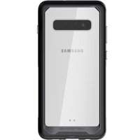 Ghostek Atomic Slim Clear Wireless Charging Case Designed for Galaxy S10 Plus – Black