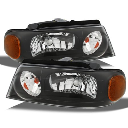 Lincoln Navigator Lights (Fits 98-02 Lincoln Navigator 02 Blackwood Black Bezel Headlights Headlamps)