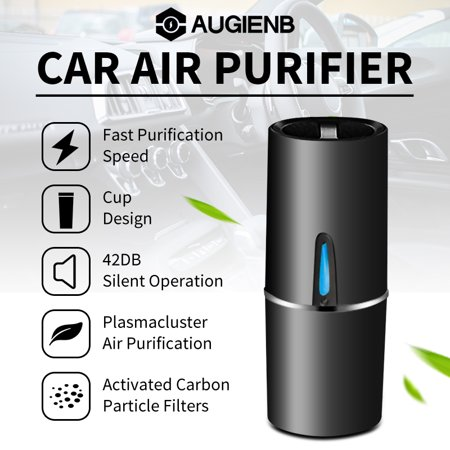 Augienb Car Air Purifier Portable Ionizer Car Air