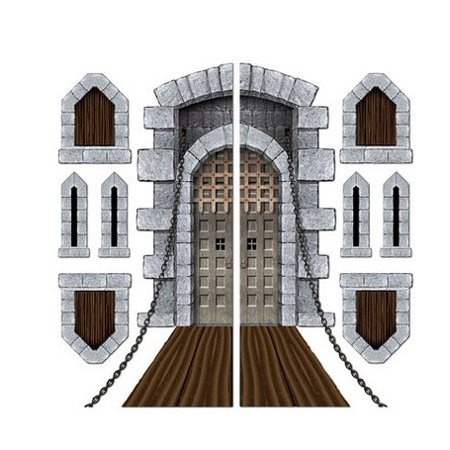 Castle Door & Window Props Party Accessory (1 Count)(9/pkg) Pkg/6, Create Stunning Eye-Catching Displays By Beistle](Door Props)