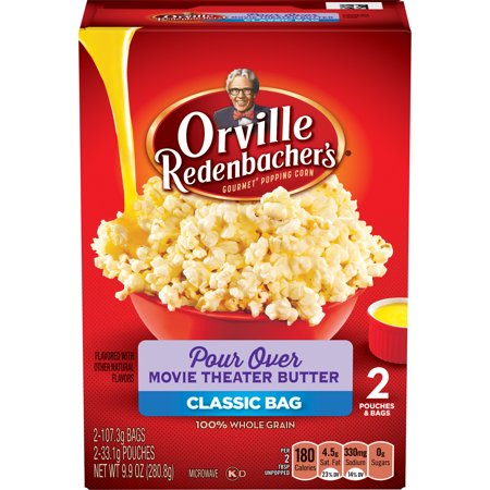 Orville Redenbachers Pour Over Movie Theater Butter Microwave Popcorn  2 Count