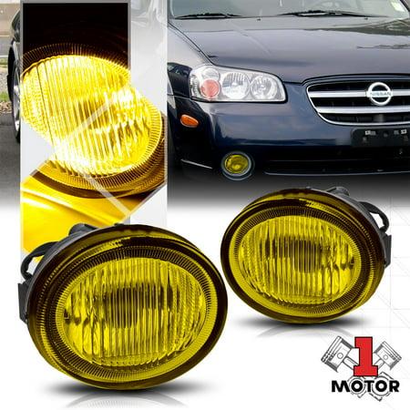 Golden Yellow Lens Replacement Fog Light OE Bumper Lamp for 02-03 Nissan Maxima