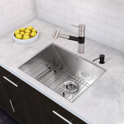 Vigo Branson Stainless Steel And Matte Black Pull Out Spray Kitchen