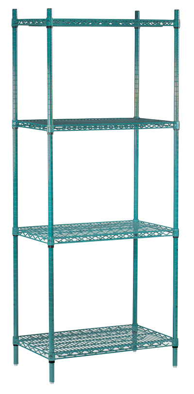 Advance Tabco 36 Wire Shelving Unit-Green Epoxy Model EGG-1836 by Advance Tabco
