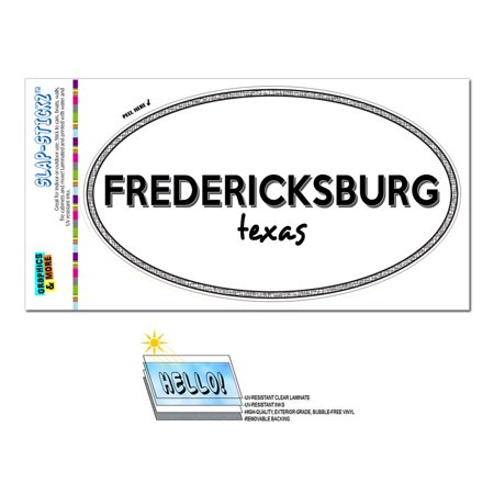 Party City Fredericksburg (Fredericksburg, TX - Texas - Black and White - City State - Oval Laminated)