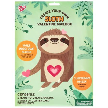 Valentine Mailbox Ideas (Way To Celebrate Cyo Sloth Val Mail)