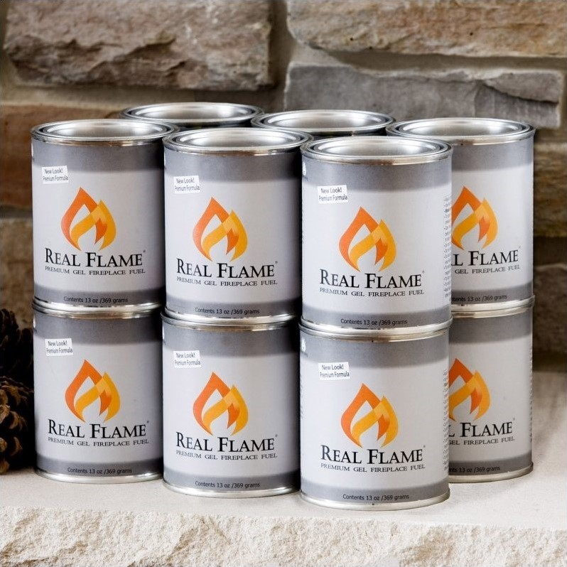 Gel Fuel Fire Cans Real Flame Indoor Outdoor Fireplace Electric Pit Log No Toxic
