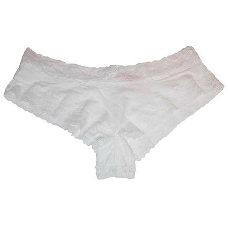 56ab23b67c Victoria s Secret - Victoria s Secret Sexy Lace Cheeky Cotton Bikini Panty  White M - Walmart.com