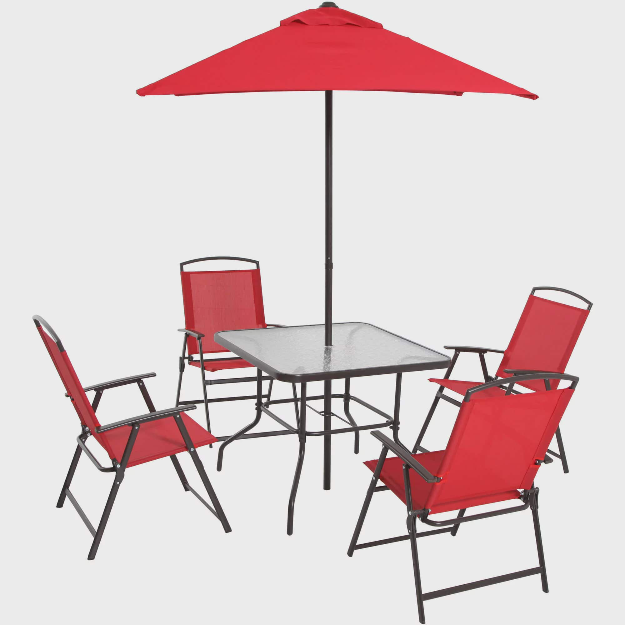 Red Patio Chair mainstays albany lane 6-piece folding dining set, multiple colors