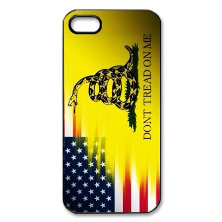 Ganma Ganma Don't Tread On Me Best Flag and Snake Black Plastic Cell Phone Cases Cover Case For iPhone 8 PLUS Case For iPhone 5s
