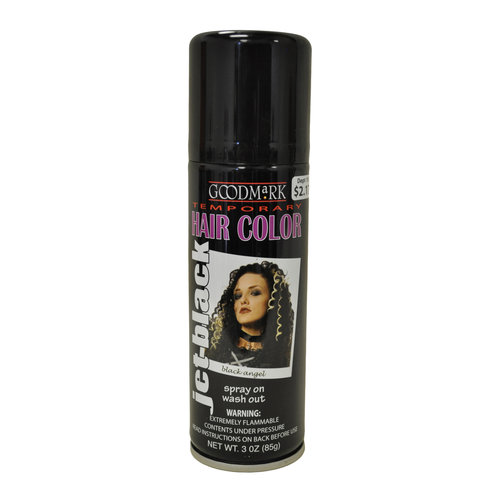 washable hair dye goodmark temporary hair color spray black walmart 31752