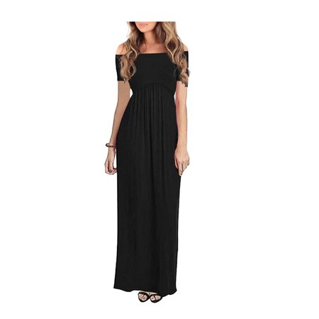 9df138ab6ae8a Phoebecat - Soft Short Sleeve Long Maxi Dress for Women, Womens Cowl Neck  and Over The Shoulder Ruched Maternity and Nursing Dress by Mother Bee M ...