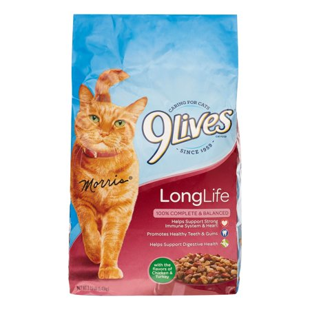 Image of 9Lives Long Life Formula Dry Cat Food, 3.15 Lb
