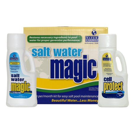 Natural chemistry 07404 spa swimming pool salt water magic - Saltwater swimming pool chemistry ...