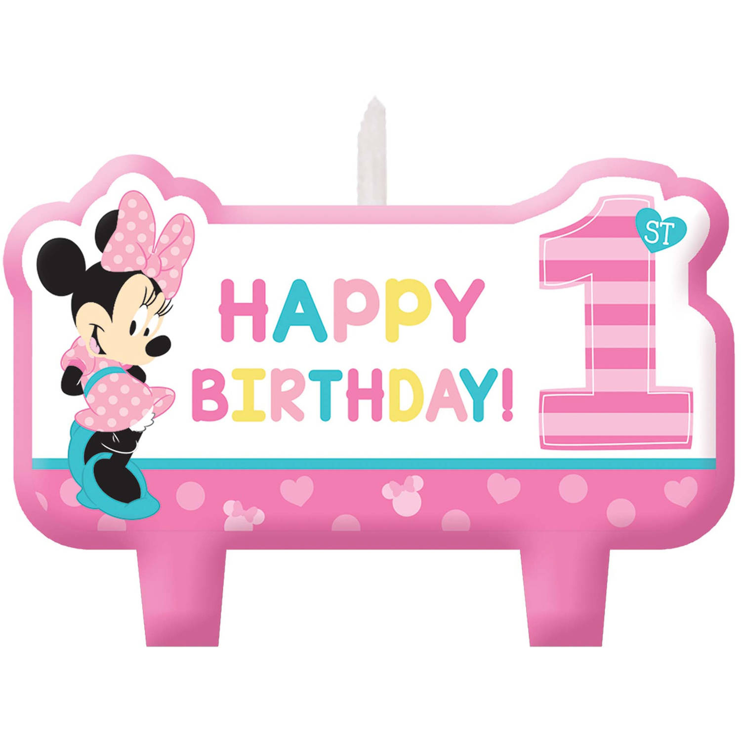 Disney Minnie's Fun to Be One Candle Set