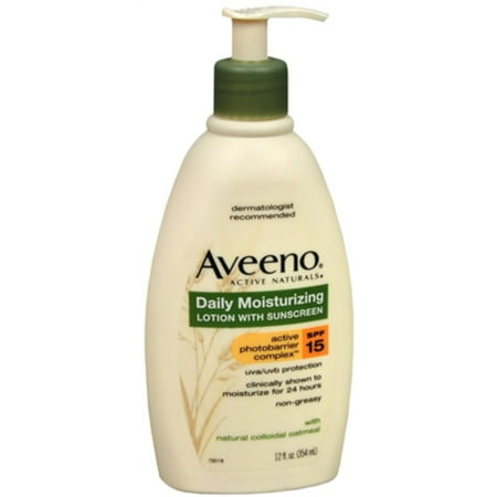 6 Pack - AVEENO Active Naturals Daily Moisturizing Lotion With Sunscreen SPF 15 12 oz Aveeno Spf 15