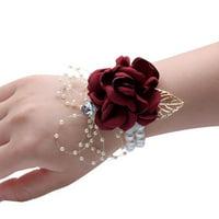 AkoaDa Wedding Hand Flowers Wrist Corsage Bridal Bouquet Bridesmaid Flower Casual