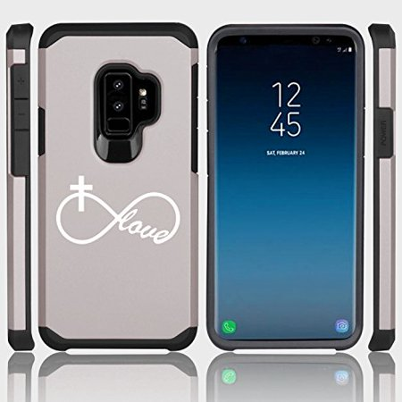 Cross Galaxy (For Samsung Galaxy Shockproof Impact Hard Soft Case Cover Infinity Love Cross Christian (Silver for Samsung Galaxy)
