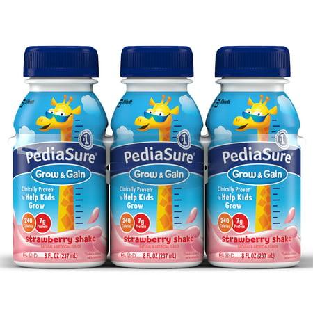 PediaSure Grow & Gain Nutrition Shake For Kids, Strawberry, 8 fl oz (Pack of 6)