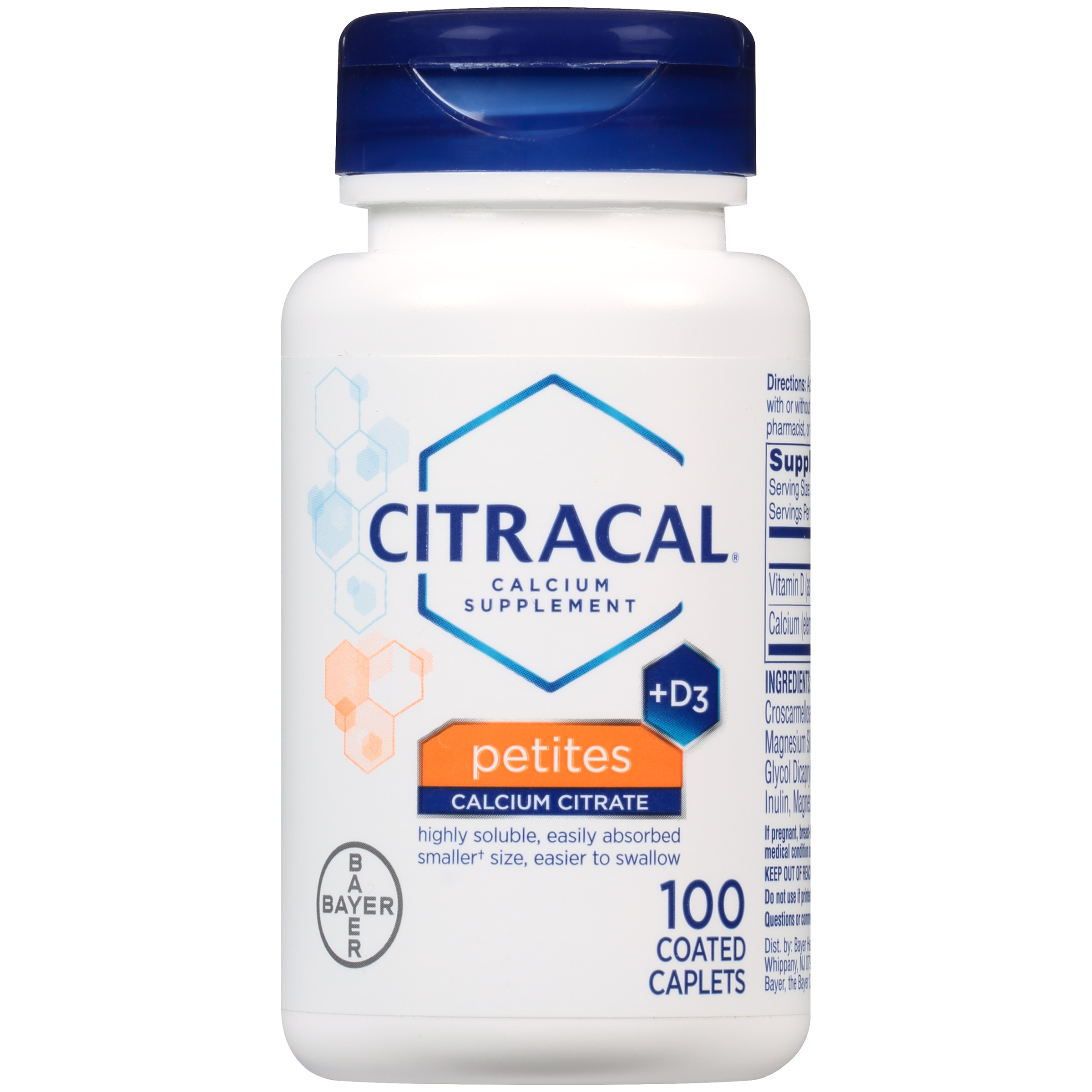 Citracal Petites Calcium Citrate With Vitamin D3, Caplets, 100 Count
