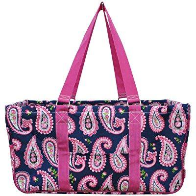 n. gil all purpose open top 23 classic extra large utility tote bag 3 (paisley hot pink)](Extra Large Tote Bag)