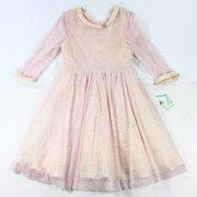 Bonnie Jean NEW Pink Size 16 Girls Embellished Metallic Cheetah Print Dress $58