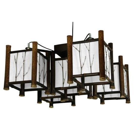 Oriental Furniture Watashi WDLD-007 Japanese Hanging Lantern Kitchen Island Light - Oriental Lanterns