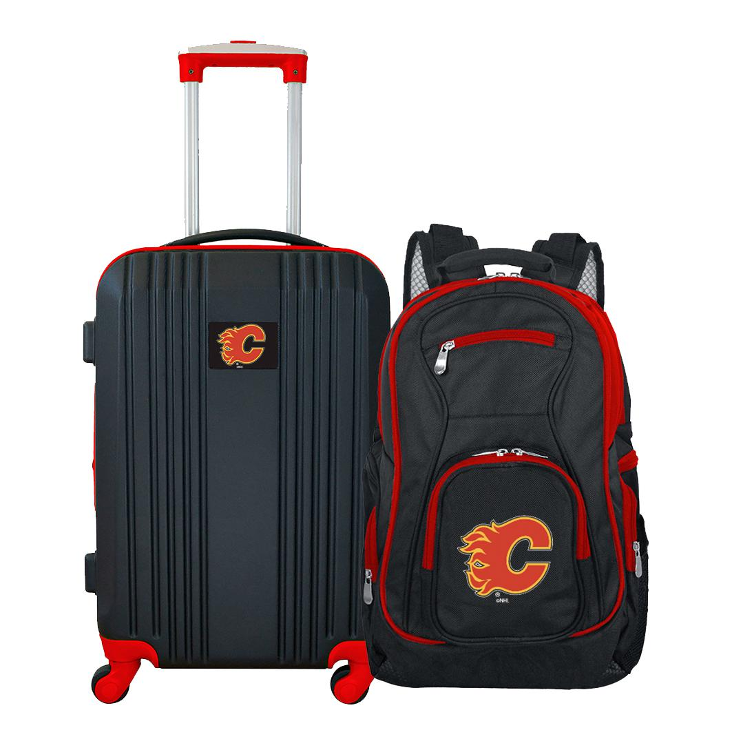 NHL Calgary Flames 2-Piece Luggage and Backpack Set